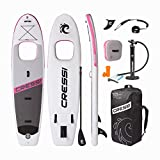 Cressi' Kinilau 10'6' Stand up Paddle Sup Gonflable Adulte Unisexe, Blanc/Rose, Unique