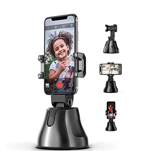 Apai Genie - InFrame Motion Tracking 360° Rotating Smartphone Mount with Facial Recognition for TikTok/YouTube/Live Stream/Videos Compatible with iPhone Android Samsung Smartphones