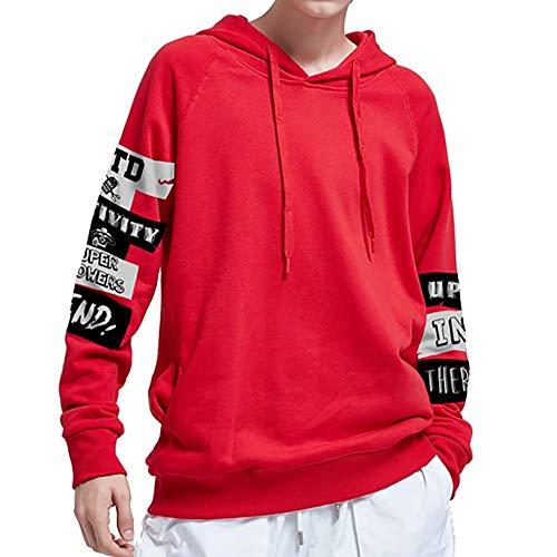 Sweat-Shirt Encapuchonné Impression ArrêTez-Vous Université VêTements De Sport DéContractéS Sauteur Copain VêTement De Rue 100% Coton pour GarçOns Adolescents Rouge Noir XL 2XL 3XL