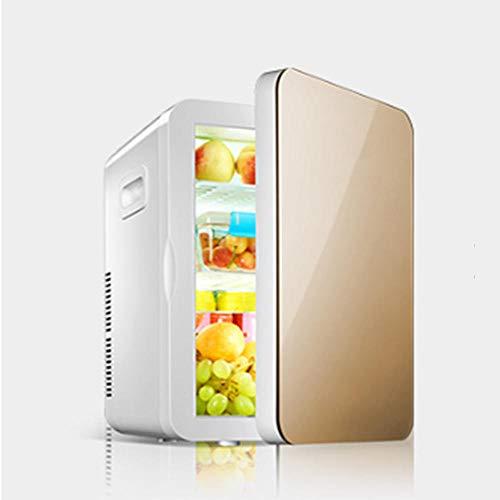 Mini frigorifero e riscaldatore da 20 litri | Refrigeratore termoelettrico di cibi e bevande ideale per uffici [Classe energetica A ++] - Oro