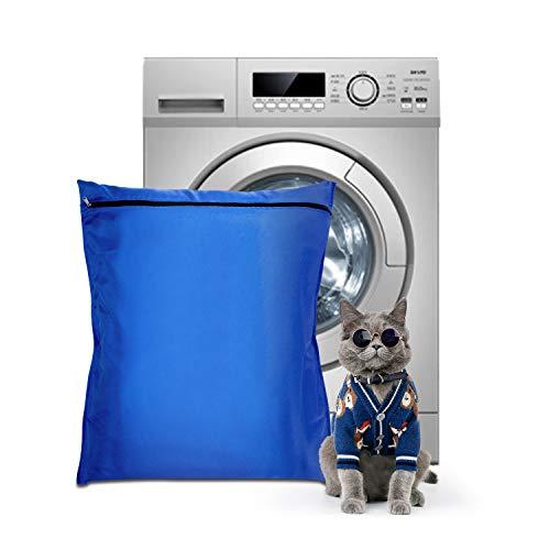 Bolsa de Lavandería para Mascotas, Aislar el Pelo de Animales para Evitar Que se Bloquee la Lavadora, Lavado Seguro con Flujo de Agua a Través de la Bolsa de Lavandería, (Azul)