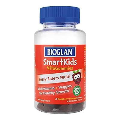 Bioglan SmartKids Fussy Eaters | Multivitamin | Vitamin A | Vitamin C | Vitamin E & D2 | Iodine | 30 Gummies