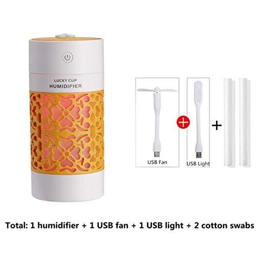 EDCV luchtbevochtiger 250ml thuiskantoor met een kleine geurverspreider etherische olie diffuser mini usb auto lucht aromatherapie luchtbevochtiger, C