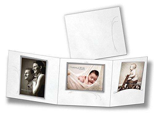 5 STK. Portraitmappe 3-teilig für 13x18 Fotos & CD im Design Studio Fotomappe Leporello für Studio, Kindergarten, Schule