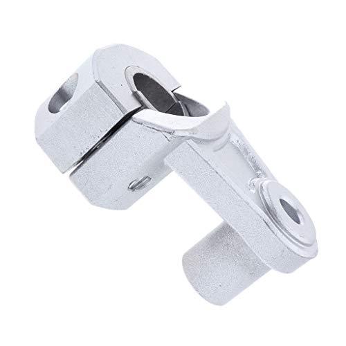 P Prettyia Soporte de Lámpara Extensor de Manillar Universal para Manillar de Motocicleta de 1 1/8 Pulgadas 28 Mm - Plata