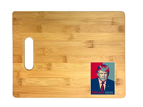 United States USA President Election Voting 2020 Donald Trump Republican Party White House Candidates 3D COLOR Printed Bamboo Cutting Board - Wedding, Housewarming, Anniversary, Birthday, Gift (Trump)