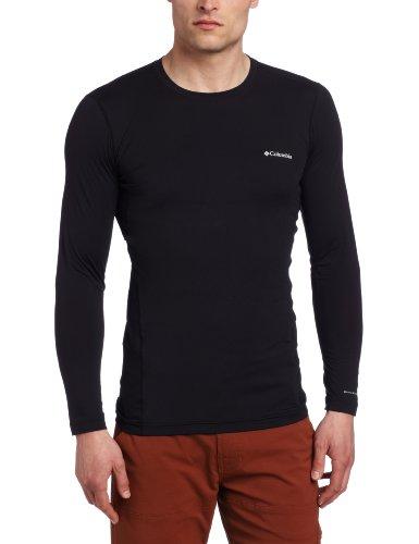 Columbia Men's Coolest Cool Long Sleeve Top, Black, Medium