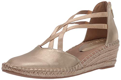 Kenneth Cole REACTION Clo Elastic Wedge Sandals, Soft Gold, 10 M US
