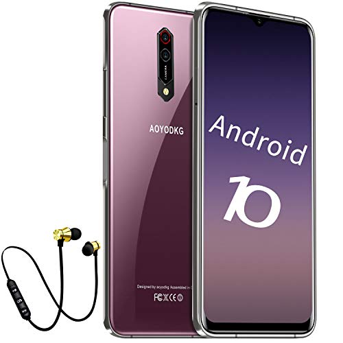 Smartphone ohne vertrag Android 10 Handy mit 6GB + 64GB, 6.52