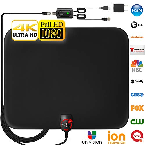 [Newest 2019] Amplified HD Digital TV Antenna Long 120 Miles...