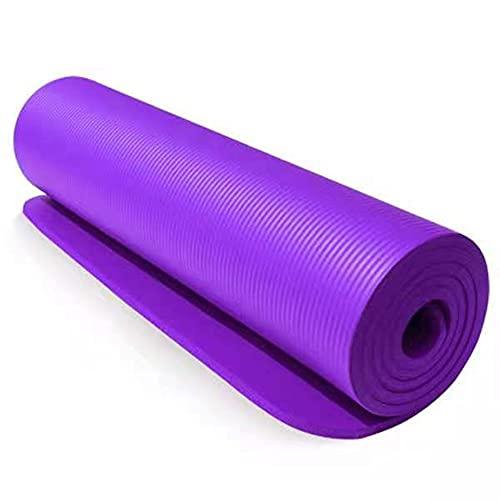 YIXINYOUPIN Yixinyoupin - Esterilla de yoga respetuosa con el medio ambiente, gruesa, antideslizante, ideal para yoga, fitness, pilates, morado, 183 x 61 x 1 0 cm