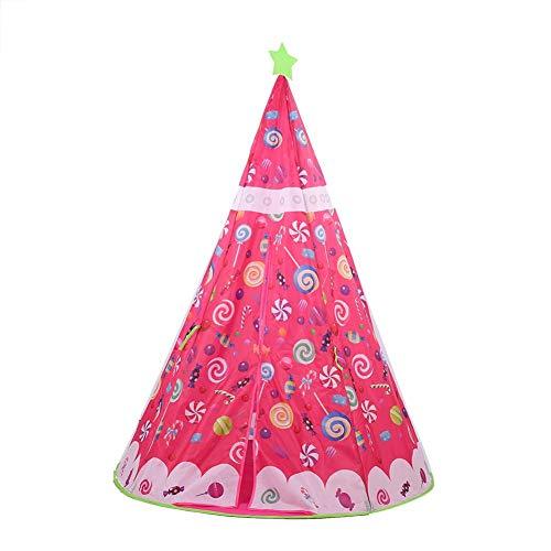 Weiyiroty Tienda de campaña, Juguetes de Unicornio, casa de Juegos, Regalos y Regalos de Fiesta, casa de Juegos Plegable para Interiores, para Exteriores, Interiores(Candy Indian Tent)