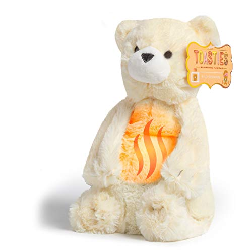 FAO Schwarz 12 Inch Warm Paws Plush Teddy Polar Bear, Microwave Warm-Up Stuffed Animal for Sleepytime with Lavender Aromatherapy, Cuddle and Snuggle Pal with Ultra-Soft Fur