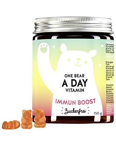 BEARS WITH BENEFITS One Bear a Day Immunboost - Gummibärchen mit Hochdosiertem Multivitamin-Komplex (90 Bärchen)