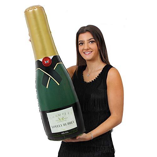 ILOVEFANCYDRESS AUFBLASBARE Champagne Flasche UNGEFÄHR 73cm HOCH=ERHALTBAR IN VERSCHIEDENEN STÜCKZAHLEN = DIE PERFEKTE Dekoration FÜR Jede Art DER Party DER Hochzeit ODER Geburtstag = 2 Flaschen