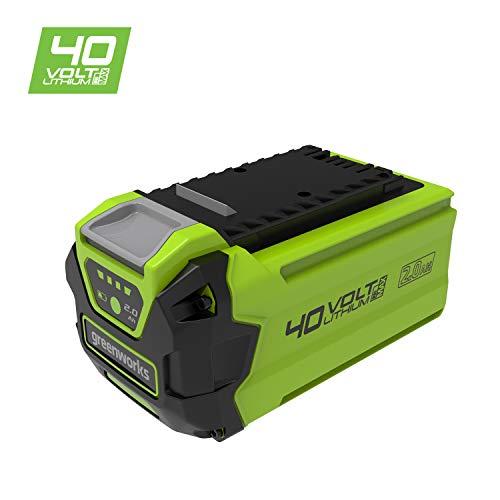 Greenworks Tools Akku G40B2 2.Generation (Li-Ion 40 V 2 Ah wiederaufladbarer leistungsstarker Akku passend für alle Geräte der 40 V Greenworks Tools Serie), 40V 2.0Ah GEN 2, Grün
