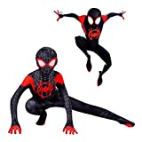 Déguisement Spiderman Halloween Noel Spider-Man Into The Spider-Verse Miles Morales...