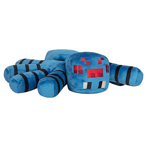 Minecraft 8693 Jinx Adventure Höhlenspinne, Plüsch, gefüllt, Blau, 38,1 cm Beinspanner, Verschiedene