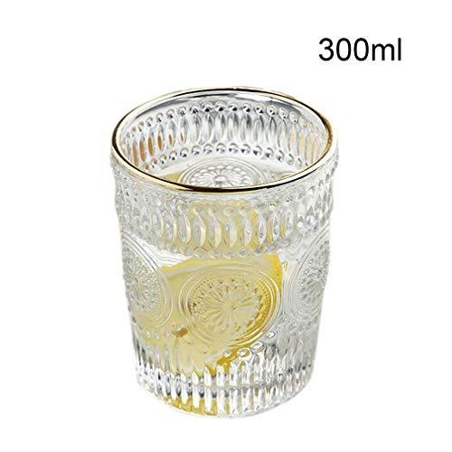 KUYUC Bierglazen bierglas bierkrokken reliëf, bierglas bierpul voor thuis restaurants verjaardagscadeau 300ML/10oz