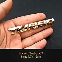 HYYT 1ピース新しい車のスタイリング車ターボブーストローディングバスニング3D金属クロム亜鉛合金3Dエンブレムバッジステッカーデカール自動アクセサリー (Color Name : Turbo 09)