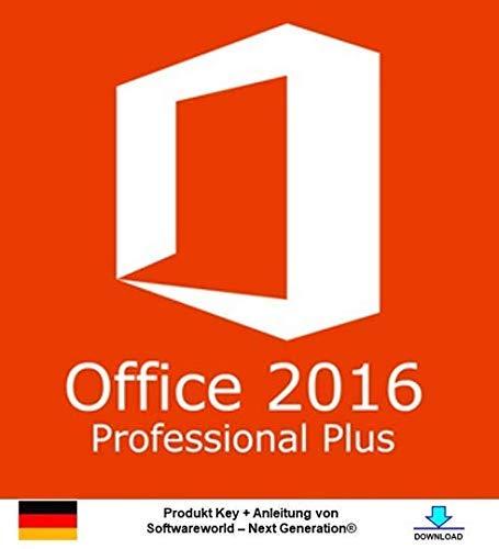 Office Professional Plus 2016 32 /64 bit Produktschlüssel inkl. Anleitung von Softwareworld – Next Generation®