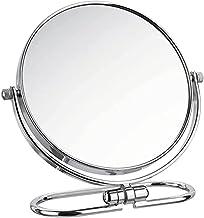 Cosmetische spiegel - Desktop vouwen dubbelzijdige make-upspiegel, 360 graden roteren / 3x vergrootglas HD ijdelheidspiege...