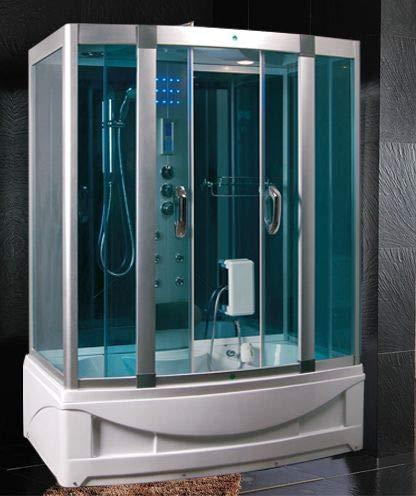 Baño Italia cabina hidromasaje con bañera 150 x 90 cm Full opcional multifunción con baño turco l