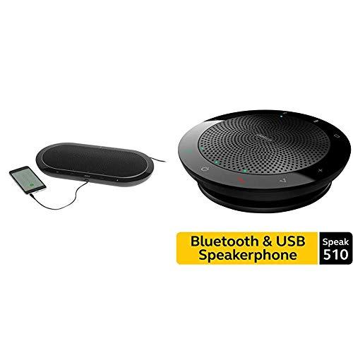 New Jabra Speak 810 MS Portable Speaker for Music and Calls Bundle with Jabra Speak 510 Wireless Blu...