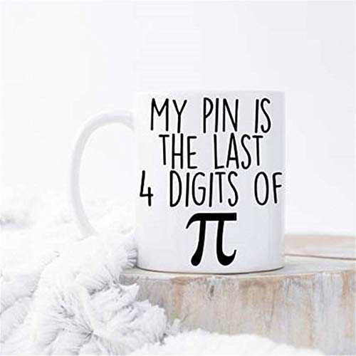 LECE Mijn Pin is de laatste 4 cijfers van Pi Mok, Nerd Mok, Ik hou van Pi Mok, Nerd Humor, Math Koffiemok, Math Mokken, Geek Mok, Cadeau voor Nerd, PI Day Mok