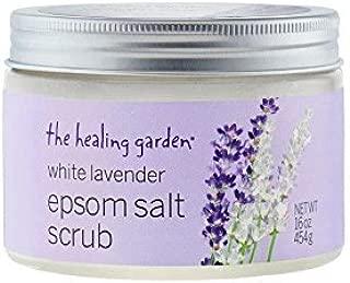 The Healing Garden White Lavender Epsom Salt Scrub, 16 oz