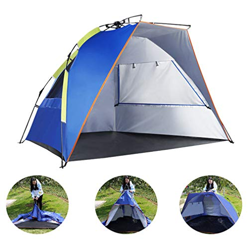 Homedecor Beach Shade Tent Beach Canopy Portable Tent Automatic Pop Up UV Protection Sun Shelter Anti-Mosquito Tent for Outdoors Camping