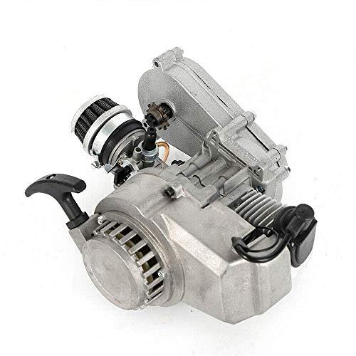2 Takt Motor - 49CC 3.5PS Pocket Bike Motor,Pull Start Motor,Motor Luftgekühlt mit Vergaser für Pocketbike,Mini Dirt Bike,ATV oder Scooter Engine
