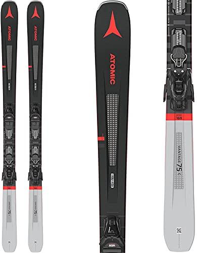 Atomic Vantage 75 C Skis w/M 10 GW Bindings Mens Sz 161cm Black/Grey