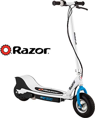 Razor E300 Teen Rechargeable 24 Volt Electric 250 Watt Motorized Scooter. White