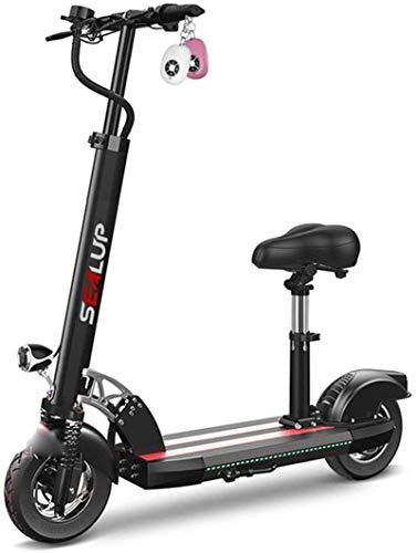 Bicicletas Eléctricas, Bicicletas eléctricas rápidas for adultos 500W motor 10' neumáticos hinchables, plegable for adultos Kick Scooter eléctrico for conmutar y viajes, Velocidad máxima 45 kilometros
