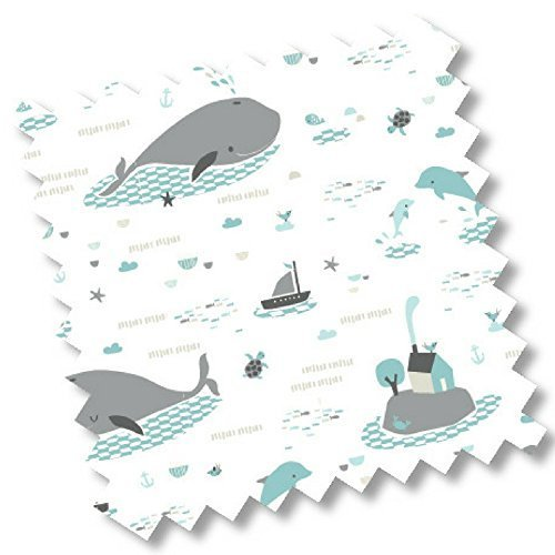 "2519 - millemarille Reisebettmatratze \""save the whales\"" I 60 x 120 cm. I für jedes Reisebett I Bezug abnehmbar I Okotex"
