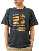 (ジーンズバグ)JEANSBUG LANTERN オリジナル アウトドア ランタン プリント 半袖 Tシャツ メンズ レディース 大きいサイズ ST-LANT L スミ(165)