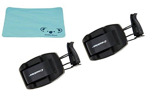 Koala Lifestyle Croakies Shade Dock Sunglass & Eyeglass Car Sun Visor Clip Glasses Holder | 2pk Bundle + Cloth