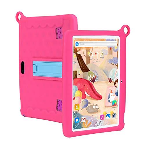 HJGHY Tableta para Niños 7 Tableta para Niños Pequeños con WiFi Cámara Dual Tableta para Niños 1GB + 16GB / 2GB + 32GB con Funciones de Control Parental,Rosado,1+16G