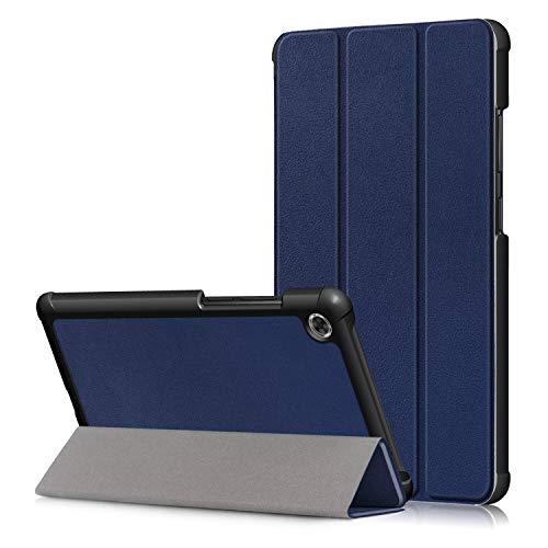 KUWEI Tab M7 TB 7305F 70 Hulle fur Lenovo PU Leder Flip Schutzhulle Ultra Dunn Superleicht Case Tasche Standerfunktion fur Lenovo Tab M7 70 Inch Tablet PC Dark Blue