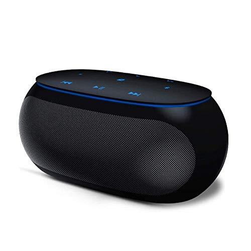Asncnxdore. GYHH Drahtloser Bluetooth Lautsprecher Smart Touch Tragbarer Subwoofer Bluetooth Spalte HiFi Sound System Musik Surround-Breitband-Lautsprecher (Color : Black)