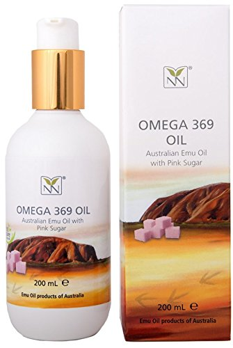 Extra Large, 100% Pure Australian Emu Oil w/Pink Sugar - 6.8 oz - Luxury, Hospital Grade Emu Oil - The Ultimate Home Spa Moisturizer for Skin, Hair, Nails, and Scalp
