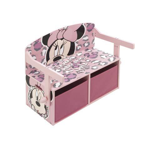 familie24 Minnie Maus 2in1 Maltisch u Sitzbank umklappbar Kindermöbel Kindersitzgruppe Tisch Stuhl