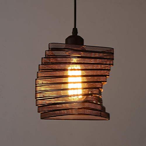 Beautiful lamps / Luces colgantes del rectángulo industrial, Nostalgia antigua creativa Diseño de celosía interior Lámpara colgante Rectangular Soporte de la lámpara Pantalla de hierro negro Dormitori