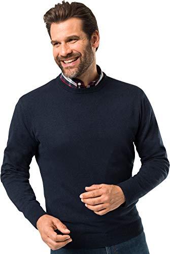 Royal Spencer Herren Rundhals-Pullover aus Kaschmir-Seide, Kaschmirpullover in Dunkelblau, kuscheliger Winterpullover, angenehm zu tragen (Gr: M - XL)