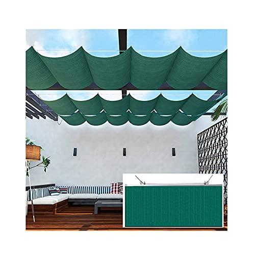 XYUfly20 Sombra De Olas En El Patio Cobertizo De Sol Engrosado Encriptado El Material De HDPE Es Impermeable, A Prueba De Moho Y Parasol para Café con Terraza Toldo Al Aire Libre