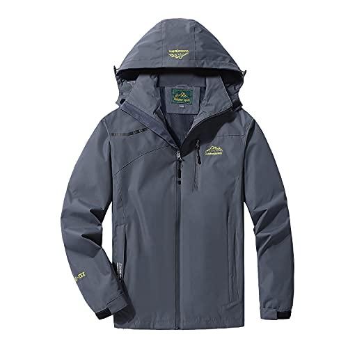LUI SUI Hombre Chaqueta impermeable para la lluvia Al aire libre Deportes ligeros Prendas de abrigo Resistente al viento Senderismo Camping Impermeable