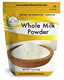 Judee's Whole Milk Powder (11 Oz): NonGMO, rBST Hormone Free, USA Made, Pantry Staple - Baking Ready, Great for Travel