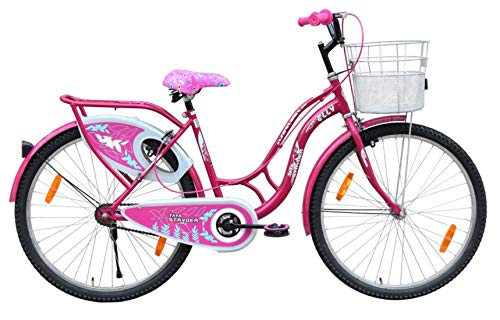"""Stryder Elly MTB Model- Ladies Speed Bicycle Full Heavy Tyre Road Bike, Age Preference- 12 + Years Old, Person Height- 5 to 6 Feet, Cycle Size- 26"""" Inches, Colour- Deep Pink, Uninstalled"""