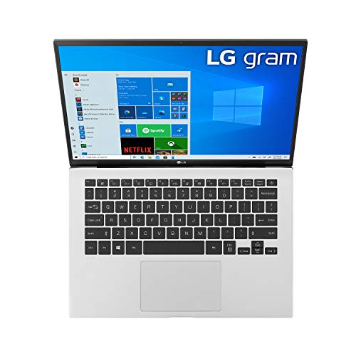 Product Image 8: LG Gram, Thin & Light Laptop – 14″ IPS WUXGA (1920 x 1200) 11th Gen Intel Core i7 1165G7 CPU, Intel Iris Xe Graphics, 16GB RAM, 512GB NVMe SSD, 22 Hour Battery – 14Z90P-K.AAS8U1 -Silver (2021)